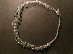 Crystal Beads Crocheted Necklace